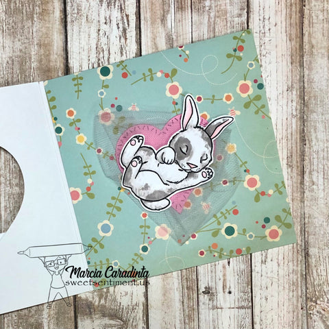 #thefrolickingfairy #sweetsentiment #colorallthethings #naptime #bunny #littlebunny #sleepingbunny #babybunny #baby #babycard #sosmall #inmyheart #trifoldcard #trifold #stitchedhearts #alcoholmarkers #spectrumnoir #triblends #tulle #cardmaker #cardmaking #cardmakersofinstagram #multiplefolds