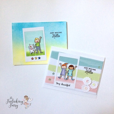 #thefrolickingfairy #hello #waffleflowercrafts #waffleflower #kids #waving #wavinghello #copiccoloring #cleanandsimple #instalove #thehedgehoghollow #broughttolifebyyou #cardkit #exclusive
