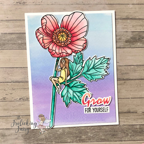 #thefrolickingfairy #waffleflowercrafts #waffleflower #inbloom #rainbow #hello #grow #watercolor #karinmarkers #inkblending #watercolorwash #flower #watercoloredflower #floral #inspirational #cardchallenge #cardmaker #cardmaking #cardmakersofinstagram #ilovecolor #ilovetocolor #iloverainbows
