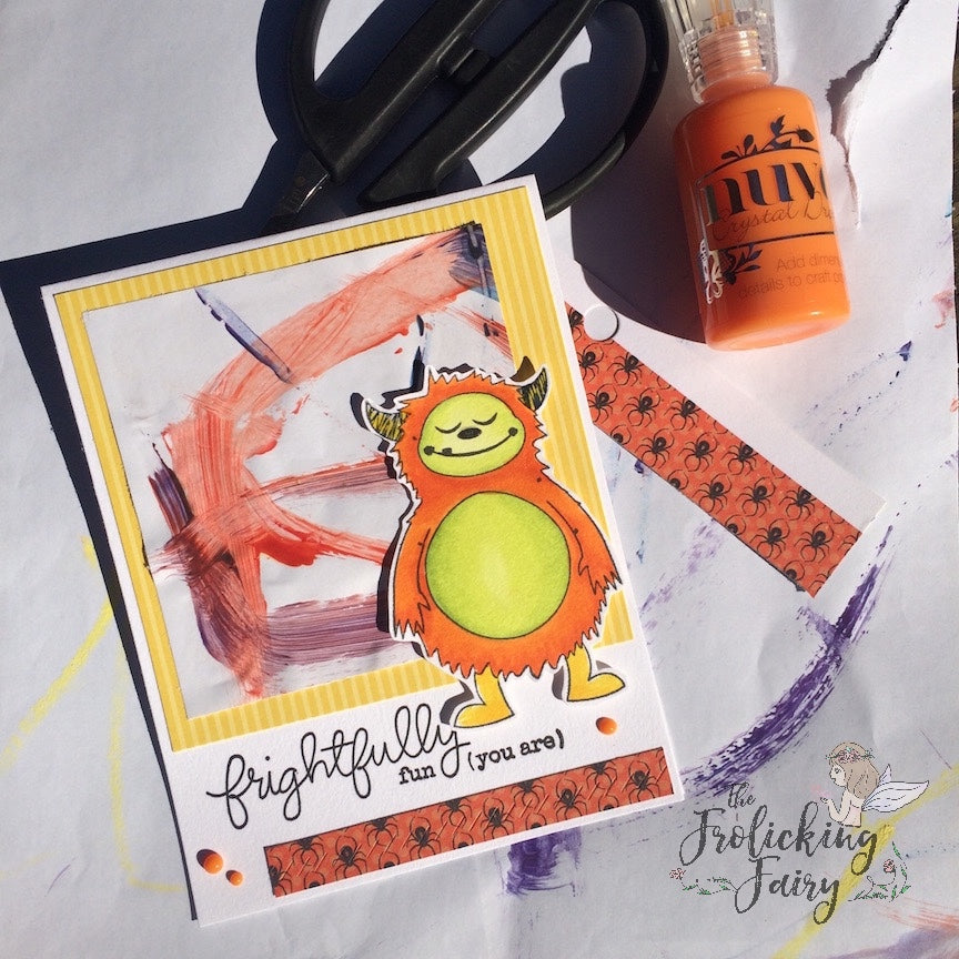 #thefrolickingfairy #fairyart #bobunny #mftstamps #kidart #painting #copiccoloring #nuvodrops #monster #frighfullyfun