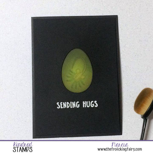 #thefrolickingfairy #kindredstamps #burstinglove #hugs #sendinghugs #facehug #alien #extraterrestrial #egg