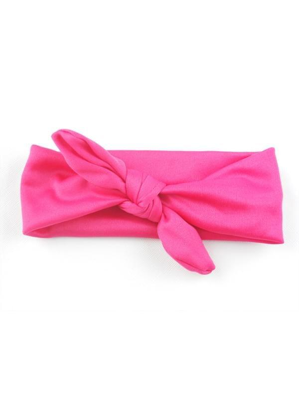 Solid Color Hair Clips Bowknot Elastic Hairband for Baby Toddler Girls