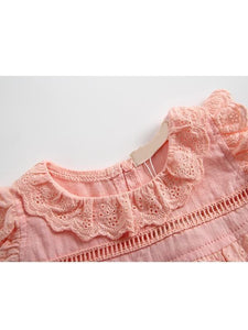 Thin Sleeveless Lace Bodysuit Onesie with Detachable Hat