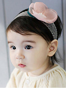Popular Flower Hairband Elastic Hair Clasp For Baby Toddler Girls