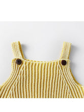 Load image into Gallery viewer, Striped Knitted Cotton Romper Sleeveless Girls Bodysuit
