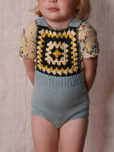 Load image into Gallery viewer, Sleeveless Strapped Bodysuit Knitted Graphic Cotton Romper for Baby Toddler Boys Girls