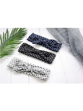 Load image into Gallery viewer, 6 Colors Mom and Me Dots Knotted Headband Knitted Elastic Hairband Set