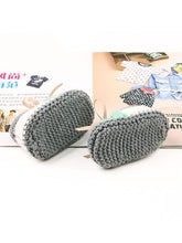 Load image into Gallery viewer, Bowknot Lacing Knitted Shoes Thermal Prewalker Baby Boat Socks