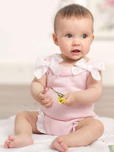 Load image into Gallery viewer, Lacework Bowknot Bodysuit Strapped Baby Onesies