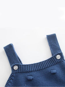 Knitted Suspender Bodysuit Crochet Cotton Onesies