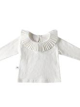 Load image into Gallery viewer, Spanish Style Baby Girl Ruffled Collar T-shirt Long Sleeve Top