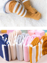 Load image into Gallery viewer, Striped Knee High Socks Loose Mouth Mid-calf Length Socks For Newborn