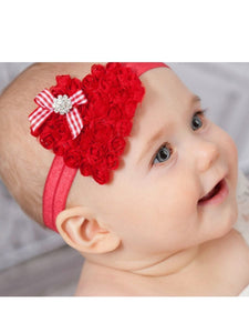 Flower Trimmed Headband Christmas Baby Toddler Girls Hair Accessory