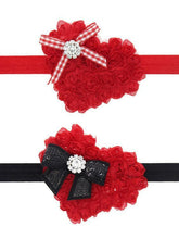 Load image into Gallery viewer, Flower Trimmed Headband Christmas Baby Toddler Girls Hair Accessory