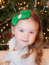 Load image into Gallery viewer, Christmas Holiday Flower Trimmed Headband Children Headwear