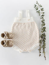 Load image into Gallery viewer, Spanish Style Outwear Crochet Dots Onesie Suspender Cotton Baby Romper