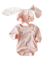 Load image into Gallery viewer, Spanish Style Baby Easter Clothes Set Long Sleeve Cotton Romper+Bunny Ear Detachable Hat
