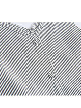 Load image into Gallery viewer, Little Big Girl Bunny Ear Style Black & White Vertical Stripe Sundress