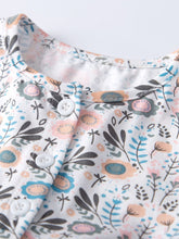 Load image into Gallery viewer, Buttoned Floral Baby Girl Clothes Summer Romper Dress
