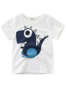 Adorable Cartoon Dinosaur Boys T-shirt