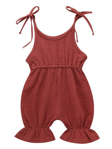 Solid Color Onesie Cotton Blend Baby Jumpsuit High Summer