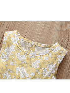 Sleeveless Frilled Floral Baby Collection Bodysuit Commercial Summer