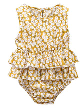 Load image into Gallery viewer, Sleeveless Frilled Floral Baby Collection Bodysuit Commercial Summer