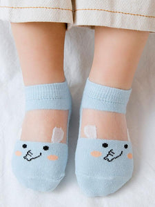 5-PACK Socks Assorted Cartoon Animal Pattern Baby Little Kids Pantyhose