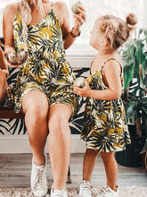 Load image into Gallery viewer, Mommy and Me Leaf Print Sundress