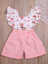 将图片加载到图库查看器,Flutter Sleeve Flower Baby Toddler Kids Jumpsuit 100% Cotton