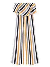 Load image into Gallery viewer, Mommy and Me Family fitted  Colorful Stripe Dress Outfit