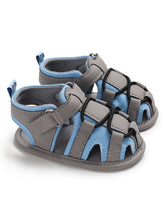 Load image into Gallery viewer, Baby Boy Color Blocking Shoes First Start Crib Sandal