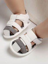 Load image into Gallery viewer, White Color Blocking Early Days Prewalker Baby Boys Sandal