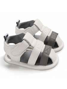White Color Blocking Early Days Prewalker Baby Boys Sandal
