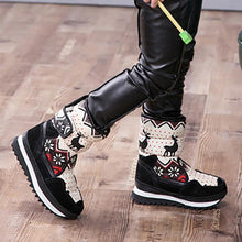 Load image into Gallery viewer, Kids Adult Adorable Reindeer Faux Fur Lined High-top Snow Boots