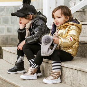 Winter Baby Toddler Kids Solid Color Outdoor Waterproof Snow Boots-4 Colors