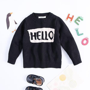 Knitted Pullover Top Babies Toddlers Boys Girls Mothers Sweater