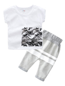 2-Piece Causal Clothes Outfits T-shirt+Pants For Baby Little Boy