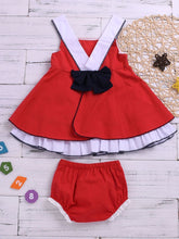 Load image into Gallery viewer, 2-Piece Baby Girl Suspender Dress + Lace Bread Pants