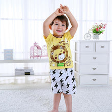 Load image into Gallery viewer, 2-Piece Outfit Cartoon Lion Home Wear T-shirt Matching Shorts Summer