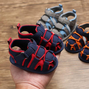 Baby Boy Color Blocking Shoes First Start Crib Sandal