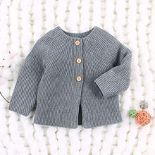 Load image into Gallery viewer, Solid Color Spanish Style Clothes Baby Girls Knitted Cardigan