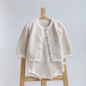 Spanish Style Outwear Crochet Dots Onesie Suspender Cotton Baby Romper