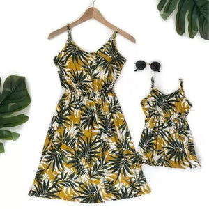 Mommy and Me Leaf Print Sundress