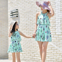 Load image into Gallery viewer, Mommy And Me Family Fitted Bird Leaf Print Swimwear
