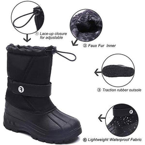 Stylish Big Boy Girl Color-blocking Outdoor Non-slip Snow Boots
