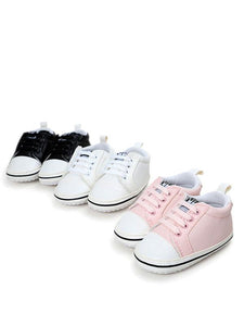 Babies Comfortable Lace Up First Walkers Shoes