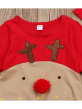 Load image into Gallery viewer, Baby 2-Piece XMAS Deer Style Jumpsuit Matching Hat