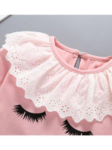 Adorable Baby Lace Long-sleeved Bodysuit