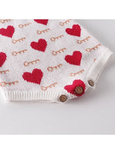 Load image into Gallery viewer, Cute Baby Love Heart Key Knitted Romper